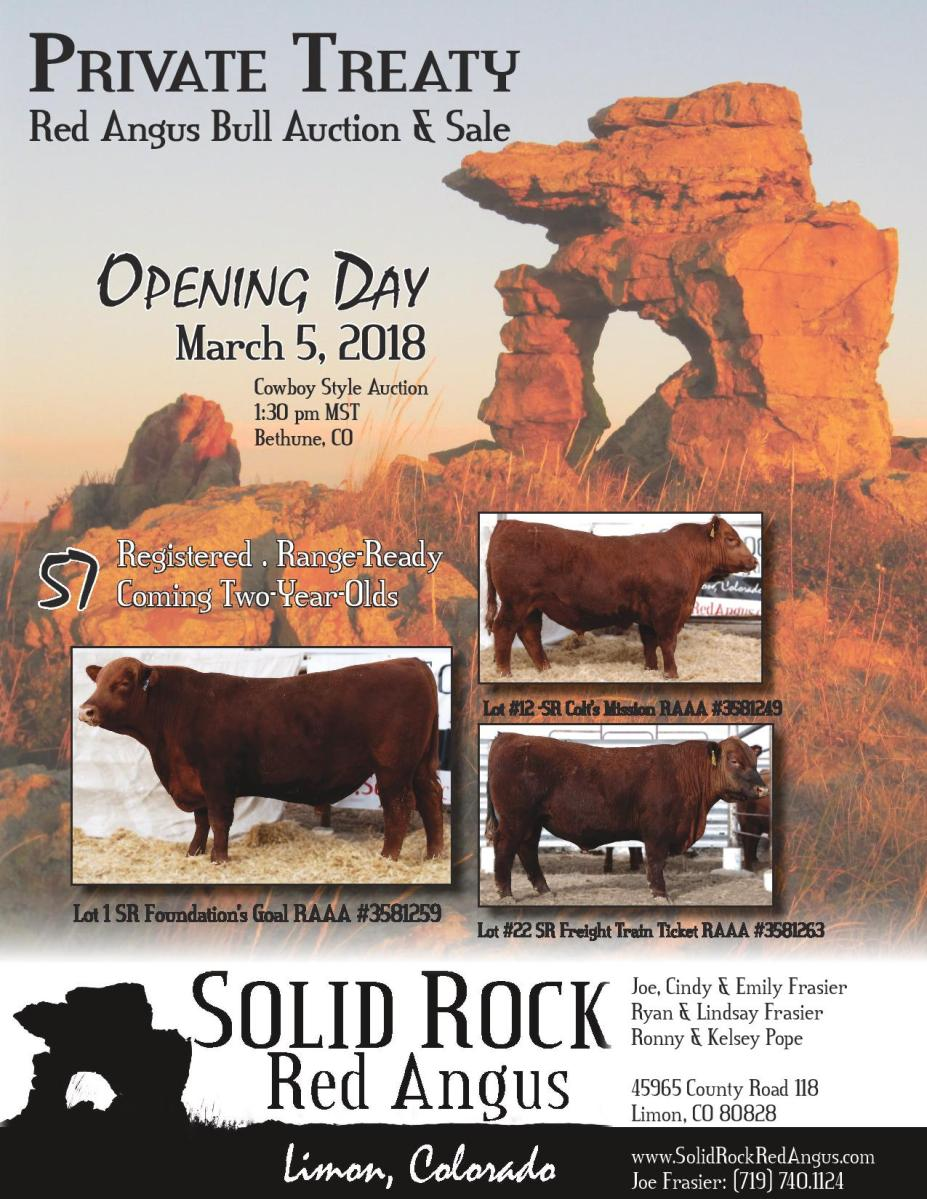 2018 Private Treaty Bull Sale Catalog